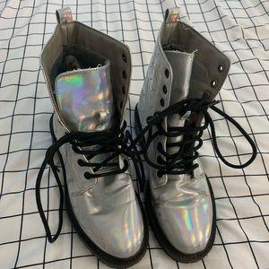 Forever 21 Size 7 Hologram Boots